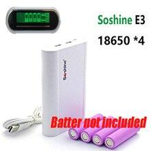 Soshine E3ธนาคารมือถือแบตเตอรี่ชาร์จกล่องจอแสดงผลLCDสำหรับ4ชิ้น18650แบตเตอรี่สำหรับโทรศัพท์มือถือที่มีสายUSB