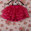 Summer new girls tutu skirts multicolor veil child princess skirt dance skirt big virgin free shipping