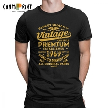Vintage 1969 Birthday Gift Idea 50 Years Old 50th T Shirt For Male