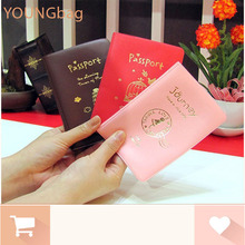 cute passport cover card holder ticket case women wallet 3 color character cover to passport carteras mujer