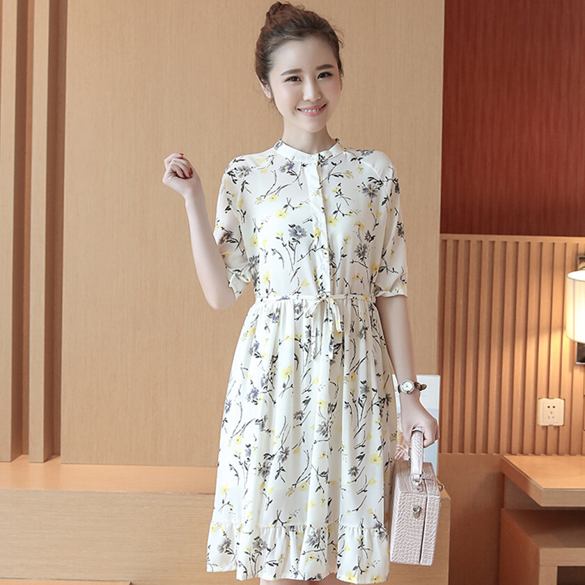 ae10149fa8cf7 Yeni yaz kadın elbiseleri baskı şifon analık elbiseler gebelik elbise  analık giyim yaz giyim 16510
