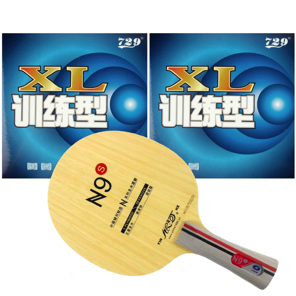 Pro Table Tennis PingPong Combo Racket Galaxy YINHE N9s with 2Pieces <font><b>729</b></font> XL 2015 Factory At a loss Direct Selling Shakehand FL image