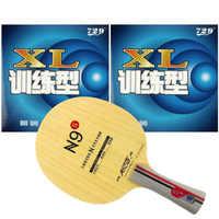 Pro Tennis de Table ping-pong Combo raquette Galaxy YINHE N9s avec 2 pièces 729 XL 2015 usine à une perte vente directe Shakehand FL