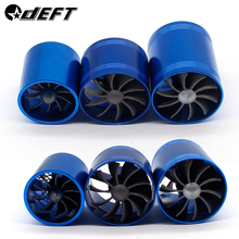 DEFT Car Auto Supercharger Turbonator Double Turbine Turbo Charger Air Intake Fan Fuel Gas Saver for Audi Ford Toyota Nissan