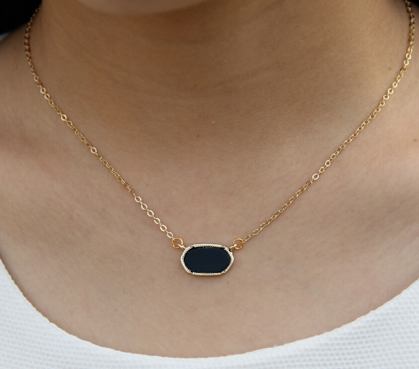Fashion Necklace for Women 2016 Gold Plated new Cute Oval Pendant Necklace Choker Necklace Jewelry for Women