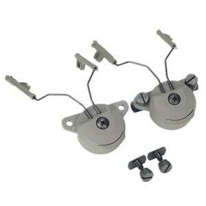 EX Headset headphone parts and Helmet Rail Adapter Set GEN1 for Comtac I/II headphones headset Black DE FG