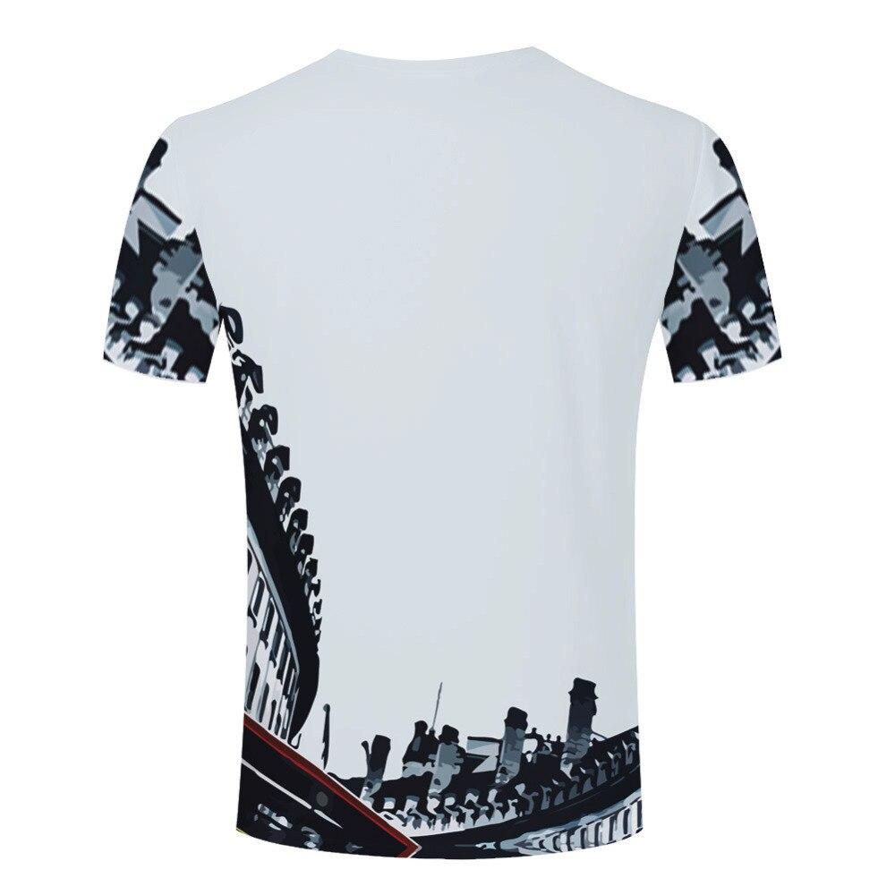 Casual 3d Work Hard Dream Big Fashion T Shirts Printing Style Men