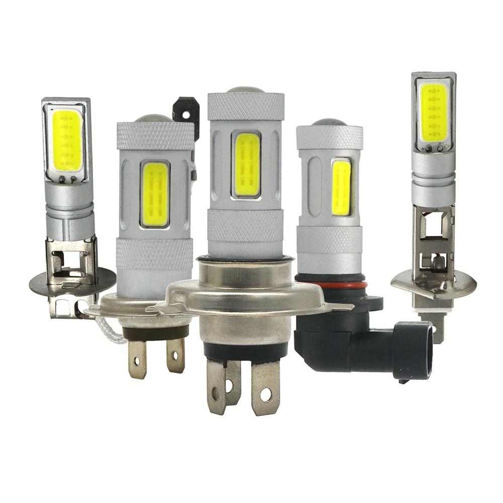2pcs H1 H3 H4 H7 H11 9006/HB4 9005/HB3 COB Car DRL Headlight Bulbs 80W 1500Lm DC 12V 360 Degree Fog Light Sourcing 6000K 1 set 80w 8000lm car led headlight h1 h3 h7 h11 880 9005 9006 6000k conversion 360 degree cob leds headlamp light bulbs kit