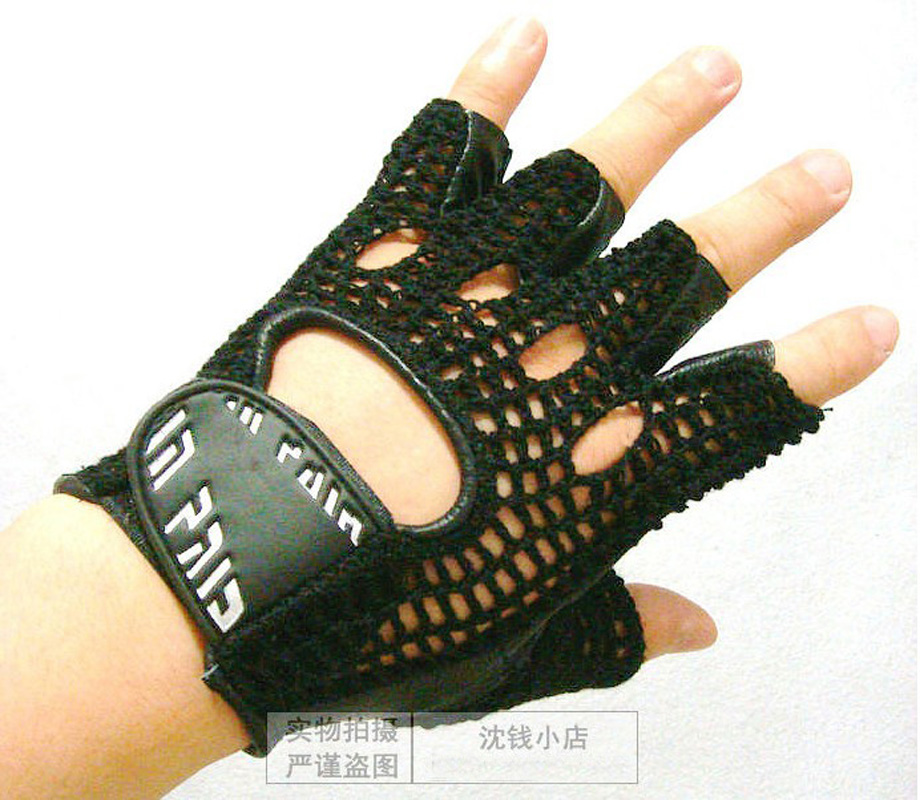 INPAIR Leather Mesh breathable Summer Fitness Sports Exercise Training Gym Gloves multifunction Durable Non slip