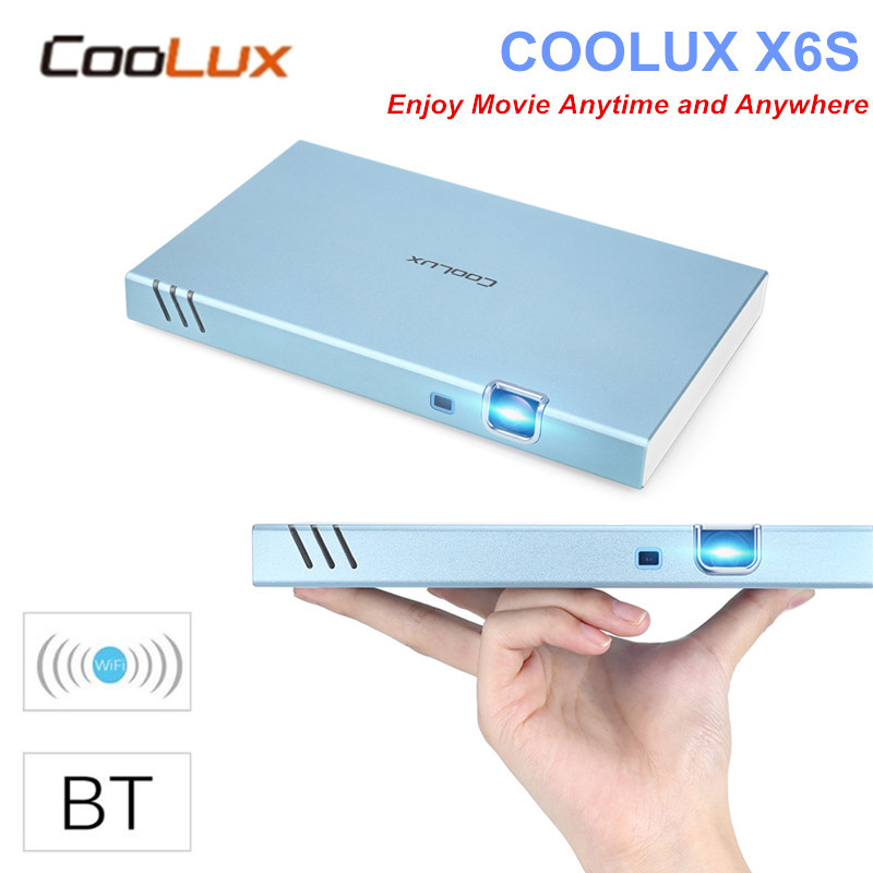 Original COOLUX X6S Portable Smart Projector Android 4.4 Bluetooth 4.0 280 ANSI 1280 X 720P Support 1080P HD For Home Theater aun projector 3200 lumen t90 1280 768 optional android projector with 2 4g air mouse bluetooth wifi support kodi ac3 led tv