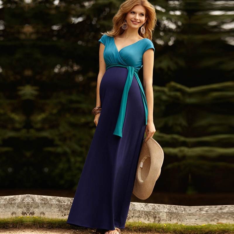 Maternity Women Dress Summer Sleeveless Sexy V-neck X-long Dress Pregnant New Moms Fashion Western Superstar Style Floor DressesMaternity Women Dress Summer Sleeveless Sexy V-neck X-long Dress Pregnant New Moms Fashion Western Superstar Style Floor Dresses