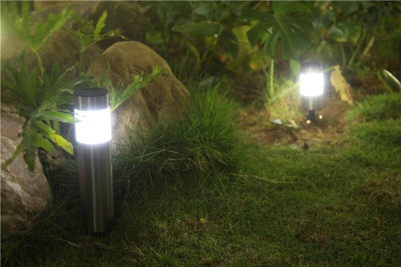 Pearlstar spina led solare luci giardino prato pannello solare