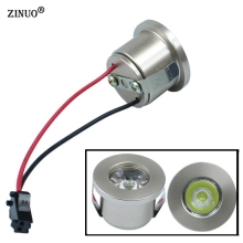 ZINUO 10pcs/lot Mini Led Cabinet Downlight 1W 3W Recessed Spot light Include Driver White,Warm white AC85-265V