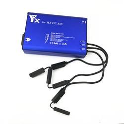 5 in 1 DJI Mavic Air Charger 3 Battery and 2 USB Port Charging for DJI Mavic Air Drone Batteries Controller Quick Charging Hub