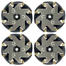48 мм стальные колеса Mecanum(2 левые, 2 правые)/колесо для соревнований роботов