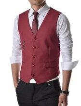 Double Vest Men 2016 New Waistcoat Men Solid 4 Colors Double Vest 2015 Hot Fashion Men Waistcoat Free Shipping