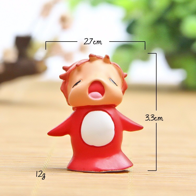 Image 3 - Anime Hayao Miyazaki Ponyo on the Cliff by the Sea Model Doll Ponyo Action Figure Toy Collection Model Toy Garden Ornament Decor-in Action & Toy Figures from Toys & Hobbies