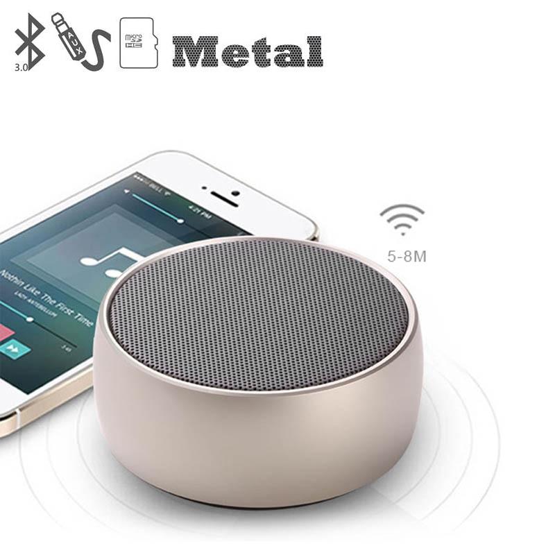 Bluetooth Stereo Speaker Metal Portable Super Bass Wireless speaker 3D Digital Sound Loudspeaker Handfree MIC