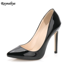Woman Pink Sexy Pumps Party Patent Leather High Heels Shoes Red Gray Blue Pointed Toe Wedding Pumps 2018 MS-B0024 cocoafoal woman green high heels shoes plus size 33 43 sexy stiletto red wedding shoes genuine leather pointed toe pumps 2018
