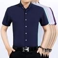 2016 Лето Новый Дешевый Мода Сплошной Цвет Мужчины С Коротким Рукавом Рубашки