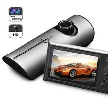 Big discount New Dual Camera Car DVR with GPS 3D G-Sensor 2.7″ TFT LCD X3000 Video Camcorder Digital Zoom Recorder CSL2017