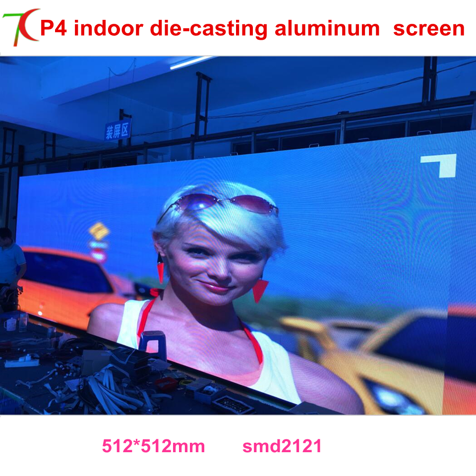 Nationstar Lamps P4 Indoor 512mm*512mm 16scan Front Mainterance  Die-casting Aluminum Screen,MBI5124 Chips
