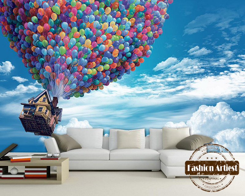 Aliexpress buy custom 3d kids cartoon wallpaper mural for Buy mural wallpaper