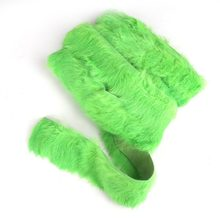 1yard 4CM Green Rabbit Hair Lace Ribbon Decoration Handmade Sewing Cloth Shoes Hat Gloves DIY Accessories Promotion Wholesale(China)