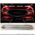 Детектор автомобильной защиты для Mazda CX-5 CX5 2nd Gen 2017 2018 2019 2020  ABS хромированная отделка  передняя решетчатая панель для гриля