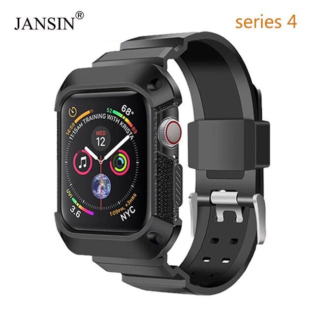 Funda protectora de cobertura completa de Enero + correa para apple watch Series 4 funda de pulsera para apple watch band Series 4 40mm 44mm