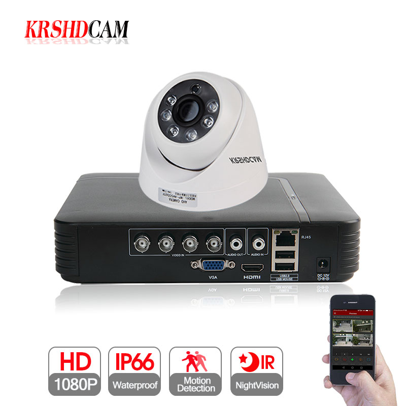 KRSHDCAM 4CH 1080N 5 IN 1 AHD DVR Security CCTV System 20M IR 2PCS 1080P CCTV dome Camera home indoor Video Surveillance Kit krshdcam 4ch ahd dvr security cctv system 20m ir 2pcs 1080p cctv camera home indoor camera home video surveillance kit