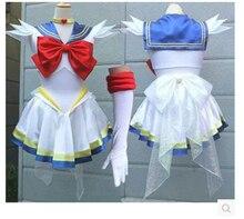 Японский Сейлор Мун Необычные костюмы Tsukino Усаги Платье для косплея комиксов-Con Синий Короткое платье любой размер