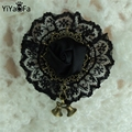 Handmade vintage brooch pin antique fabric brooch buckle women accessories gift lace corsage  (YBR-03)