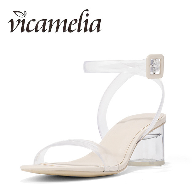 Vicamelia PVC Jelly Heel Sandals Ladies Transparente Clear Classic - Zapatos de mujer - foto 4
