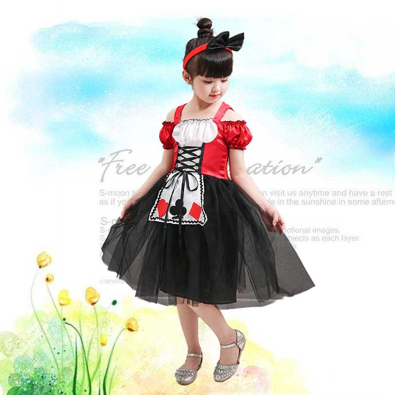 Детские костюмы принцессы на Хэллоуин для девочек; костюм Алисы в стране чудес; маскарадное платье для детей; нарядная одежда; платье Золушки