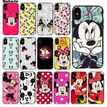 Babaite minne Mouse Ultra delgado patrón de dibujos animados funda de teléfono para Apple iPhone 5 5S SE 6 6S 7 8 plus X XS X MAX XR móvil(China)