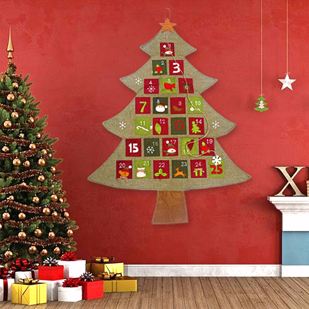 fengrise christmas advent calendar 2018 new year hanging christmas countdown calendar santa claus christmas decorations for home in advent calendars from