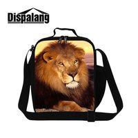 עיצוב ייחודי dispalang האריה בעלי החיים 3d הדפסת שקיות קרירה הצהריים למבוגרים ילדי תרמית מזון קופסת אוכל נייד עבודת תיק