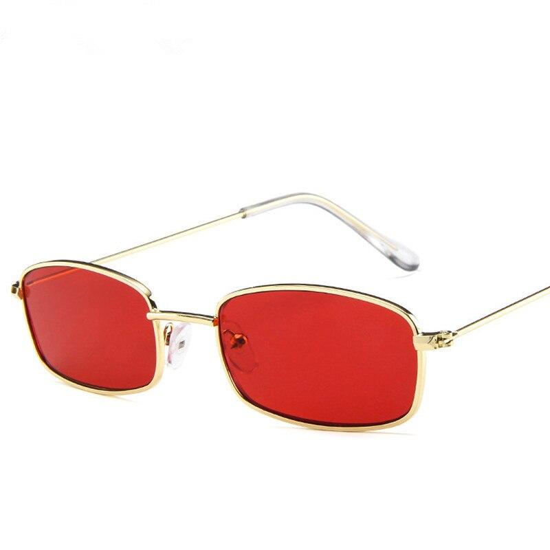 Womens Rimless Fashion Designer Sunglasses Shades Rectangular Wrap Black Red