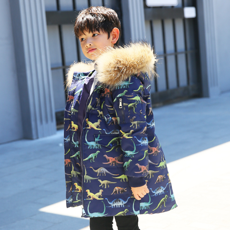 446a6ae49 Boys Long Thickened Warm Down Outerwear   Coats For Cold Winter -30 ...