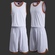 Newest Basketball Jersey Men's Training Shirt and Shorts Kits Sportsman Blank Basketball Clothes Team Uniform Plus Size