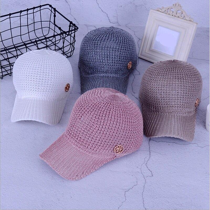 vachiam Ladies Summer Mesh Snapback Baseball Caps Breathable Letter M Equestrian Cap For Women Girls Sun Hat Bone Casquette