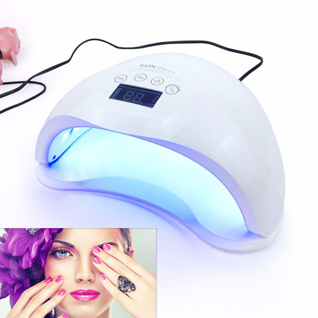 Sun5plus Professional Led Uv Nail Dryer Curing Manicure Machine Lamp Lcd Display Gel Polish Salon
