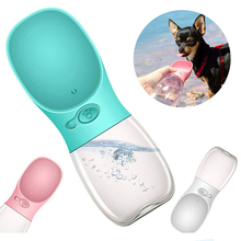 Portable Pet Dog Water Bottle ABS plastic Travel Puppy Cat Drink Bowl Outside Outdoor Dispenser Feeder