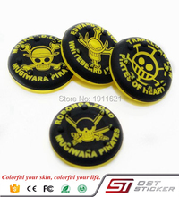 4pcs/Set One Piece Silicone Joystick Caps For PS4 Dualshock 4 Controller Parts Yellow Silicon Analog
