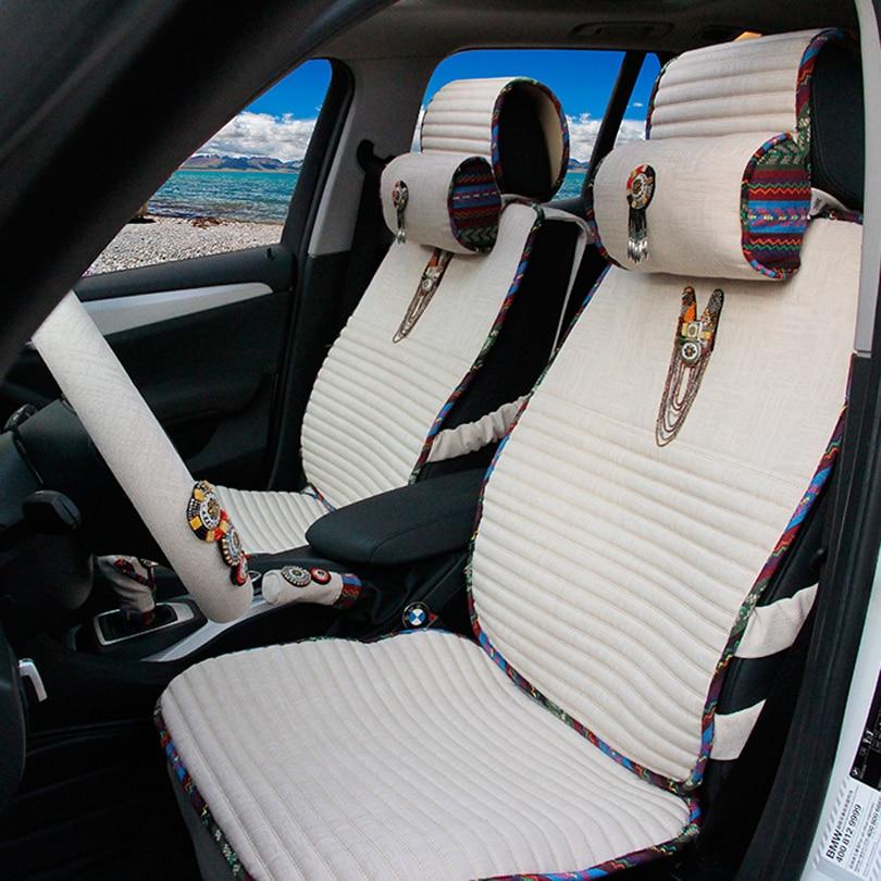 Lujo Bohemia Style Bead Fundas de Asiento de Coche Universal Mujeres - Accesorios de interior de coche - foto 2