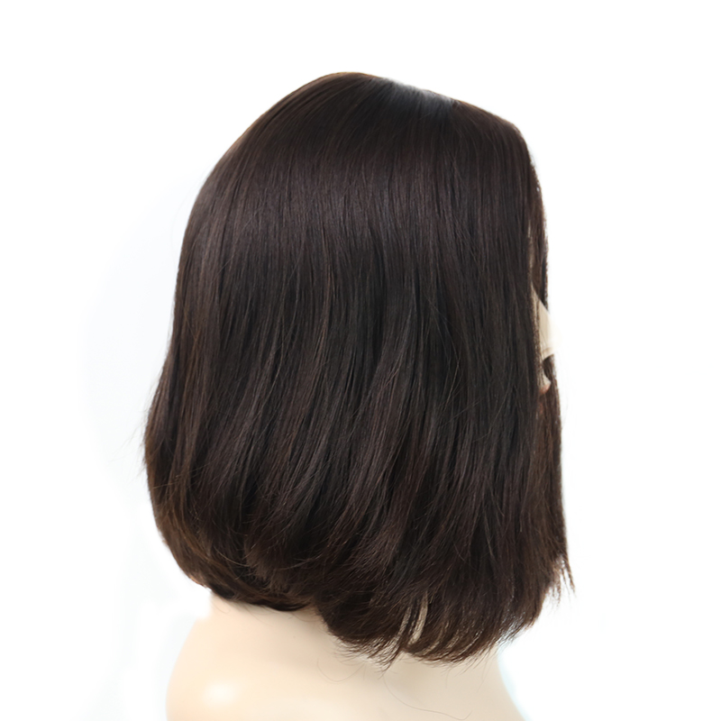 Silk Top Jewish Wigs Double Drawn Kosher Wigs Bob Short European Human Hair Wigs For Women 150 Density #4 You May Remy Full Ends