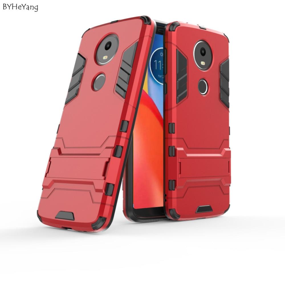 BYHeYang E5Plus Case For Motorola Moto E5 Plus Back Cover Robot Luxury Protective Armor Phone CASE For Moto E5 e 5 Coque Fundas