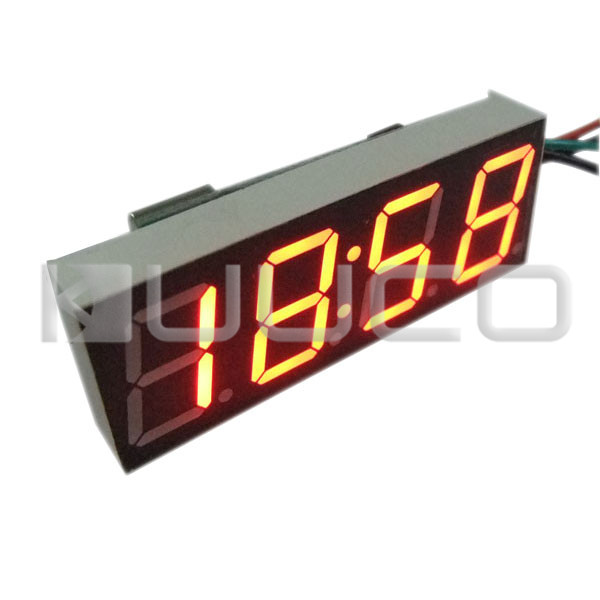 Car Clock Yellow Led display Car Clock /Digital Meter/Panel Meter Adjustable Digital Clock DC 12V 24V DIY Time Monitor/Tester цена