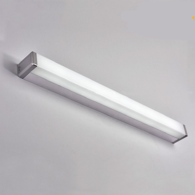 Moderne Bref Mode Simple Acrylique En Aluminium Long Led Miroir